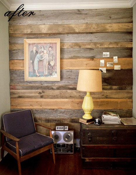 barn wood accent wall lifeeclected. Black Bedroom Furniture Sets. Home Design Ideas